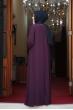Önü Pul Payet Tesettür Elbise - Mor