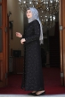 Papatya Tesettür Elbise - Siyah