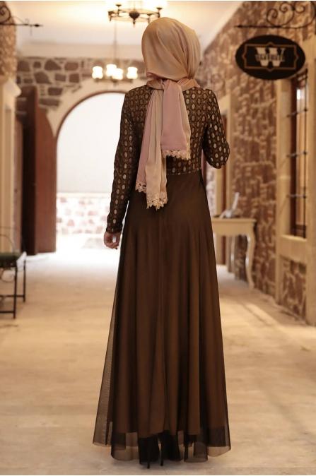 Simli Elbise - Hardal - Amine Hüma