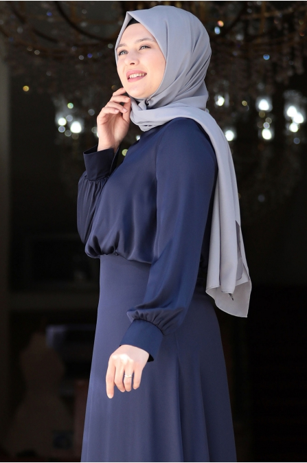 Yankı Elbise - Lacivert - Amine Hüma