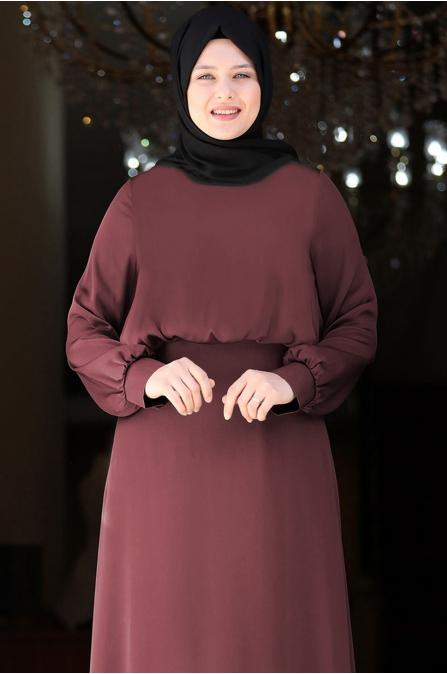 Yankı Elbise - Lila - Amine Hüma