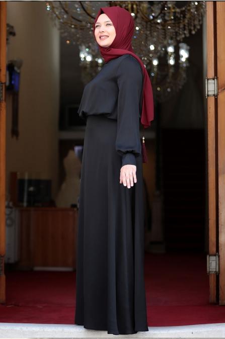 Yankı Elbise - Siyah - Amine Hüma