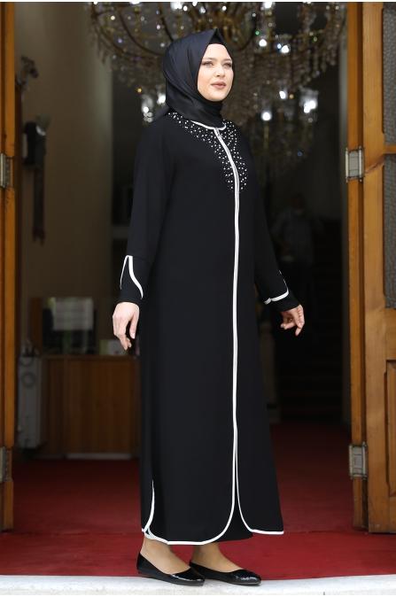 Osmanlı İncili Ferace - Siyah