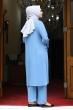 Azra Tunik Pantolon İkili Takım - Bebe Mavisi