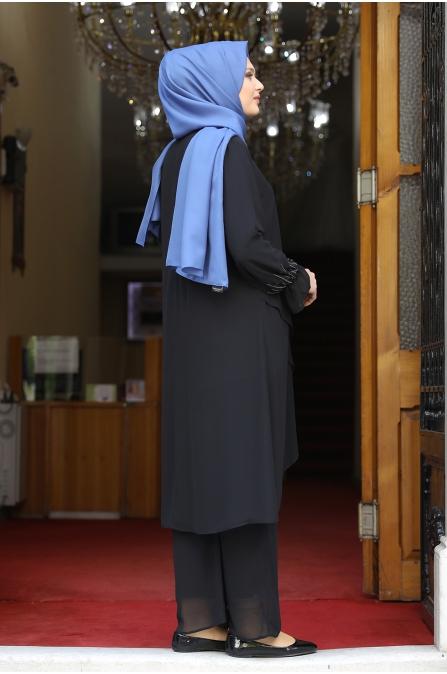Azra Tunik Pantolon İkili Takım - Siyah