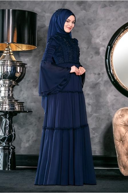 Hadra Abiye - Lacivert - Annahar