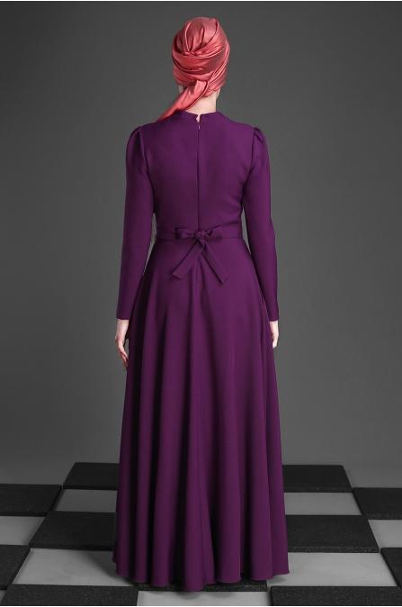 An Nahar - Belinay Elbise - Mor