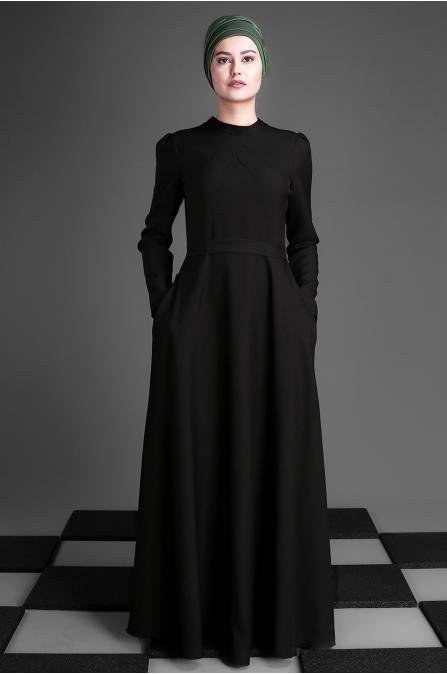 An Nahar - Belinay Elbise - Siyah