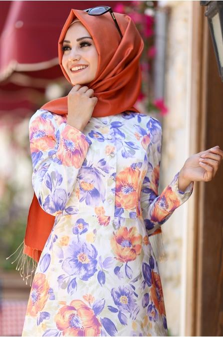 An Nahar - Çiğdem Elbise - Mor