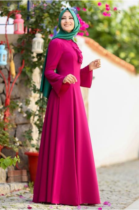 An Nahar - Ezgi Elbise - Fuşya