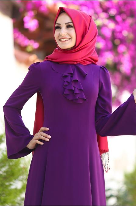 An Nahar - Ezgi Elbise - Mor