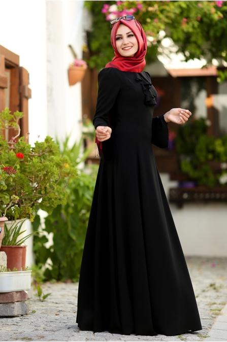 An Nahar - Ezgi Elbise - Siyah