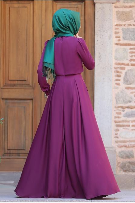 Gülce Elbise - Fuşya - An Nahar