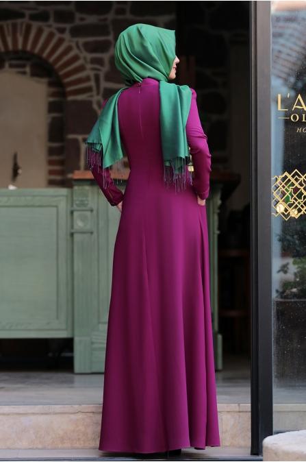 Hafsa Elbise - Fuşya  - An Nahar