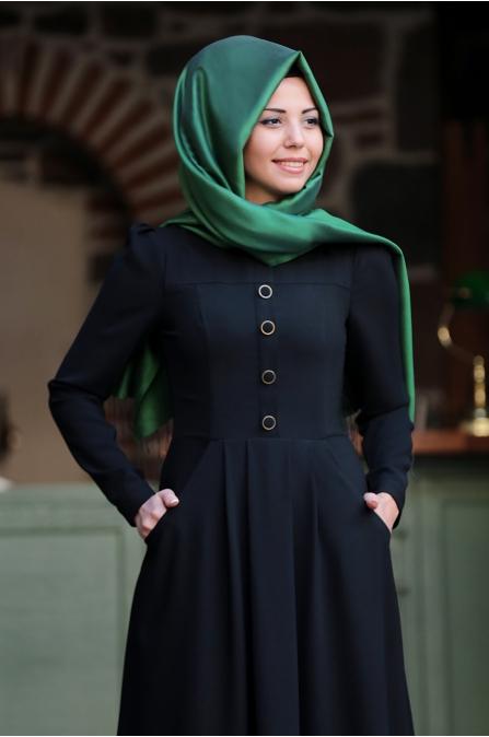 Hafsa Elbise - Siyah - An Nahar