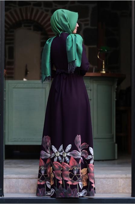 Zümra Elbise Mor - An-Nahar