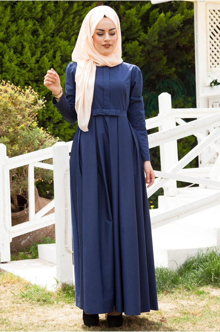 Azra Özer - Vera Elbise - Lacivert
