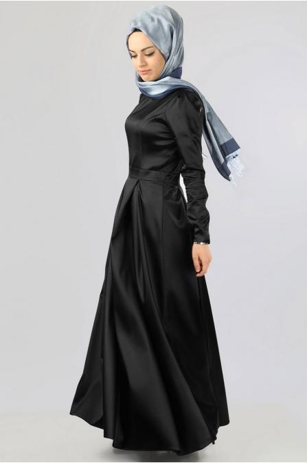 Azra Özer - Elegant Elbise - Siyah