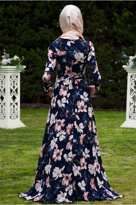 Firuze Elbise Çiçekli