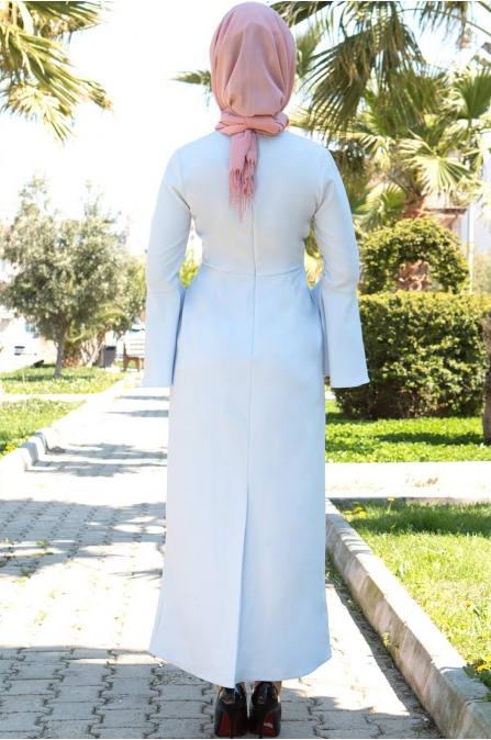 Azra Özer - Kuğu Elbise - Bebe Mavisi