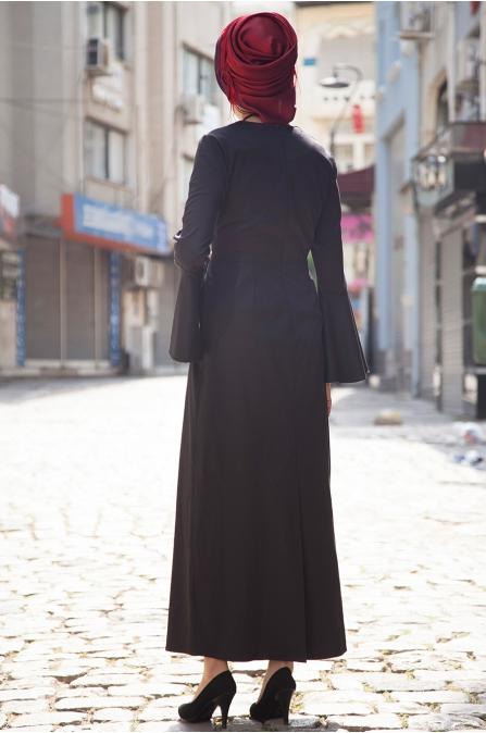 Kuğu Elbise - Siyah