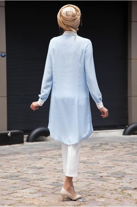 Azra Özer - Rana Gömlek - Bebe Mavisi