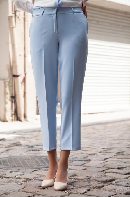 Azra Özer - Dar Paça Pantolon - Bebe Mavi