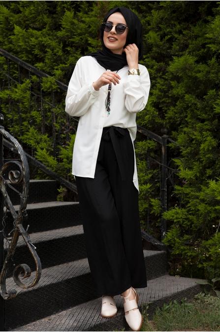 Azra Özer - Elsa Pantolon -  Siyah