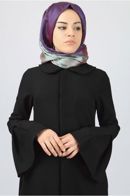 Azra Özer - Volan Pardesü - Siyah
