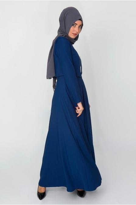Bolero Görünümlü Elbise - Saks