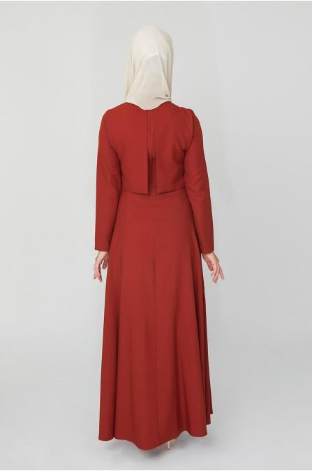 Bolero Görünümlü Elbise - Taba