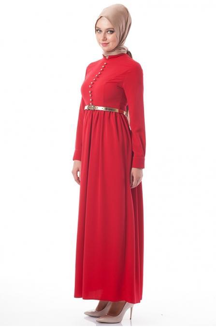 Betül Selvi Kırmızı Elbise
