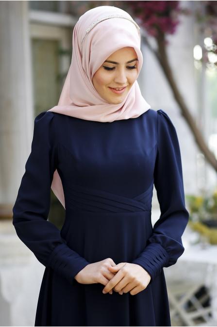 Cemile Nur - Peril Elbise - Lacivert