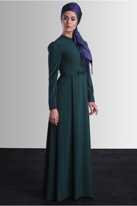 Aysine Elbise - Zümrüt  - Delkash
