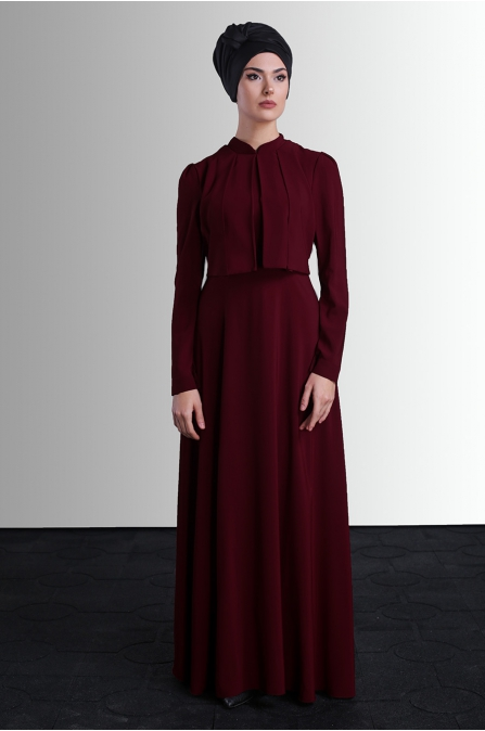 Behin Elbise - Bordo - Delkash