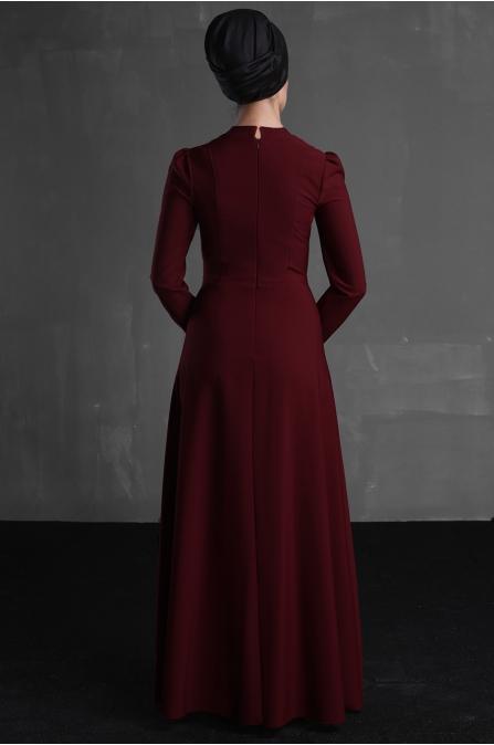 Berre Elbise - Bordo - Delkash