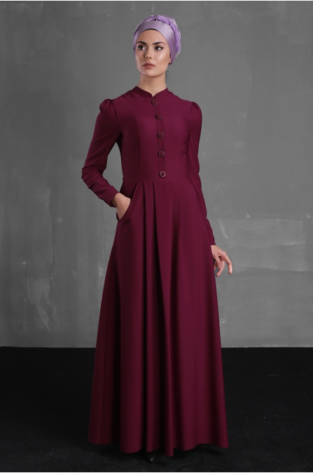 Berre Elbise - Fuşya - Delkash