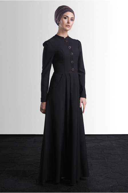 Berre Elbise - Siyah - Delkash
