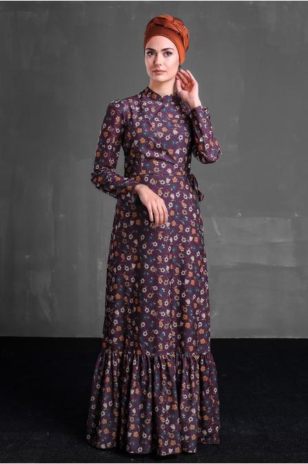 Hazen Elbise - Bordo  - Delkash