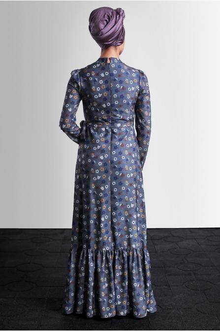 Hazen Elbise - Gri - Delkash