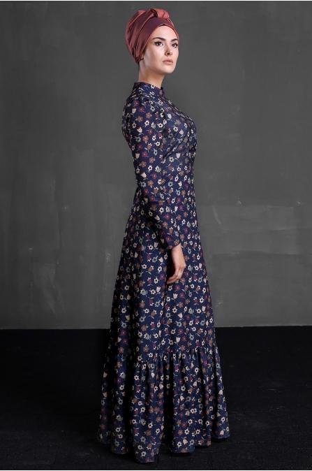Hazen Elbise - Lacivert - Delkash