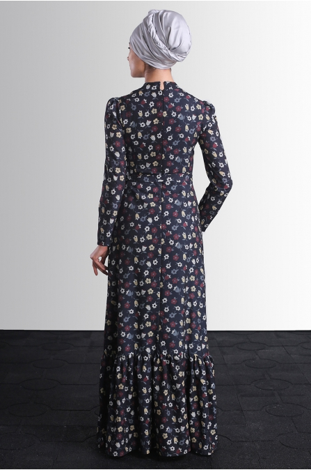 Hazen Elbise - Siyah - Delkash