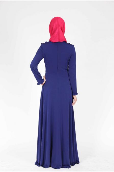 Zincir Detaylı Sax Elbise