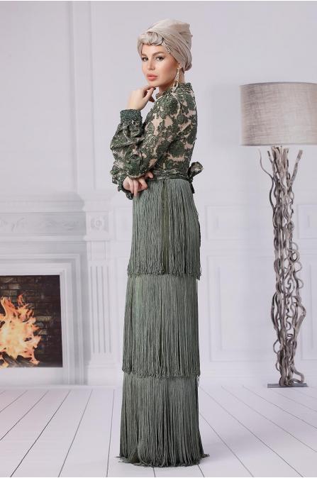 Dora  Abiye - Yeşil - Fahrunnisa