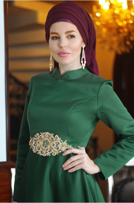 Fahrunnisa - Hanzade Abiye - Zümrüt Yeşil