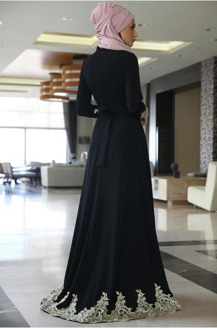 Mercan Abiye - Siyah - Fahrunnisa