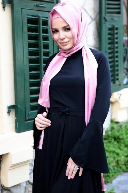Fahrunnisa - Valon Elbise - Siyah