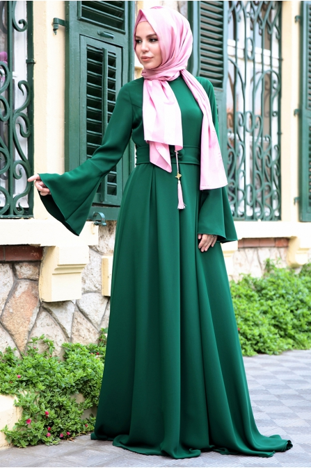 Fahrunnisa - Valon Elbise - Zümrüt