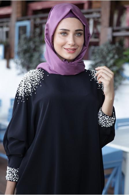 Fahrunnisa - İnci Tunik Siyah