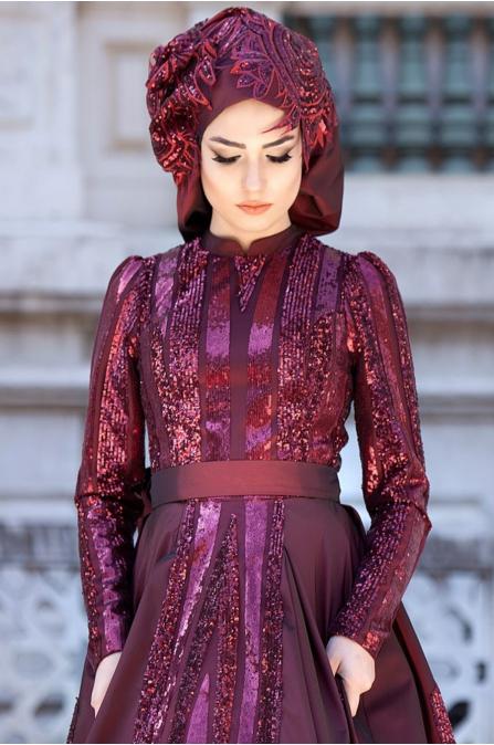 Feriha Sarıoğlu - Aysima  Abiye - Bordo